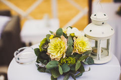 Decoration of wedding flowers Stock Photos
