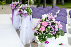 Decoration of wedding flowers Royalty Free Stock Photo