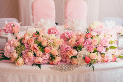 Decoration wedding flowers rings Stock Photos
