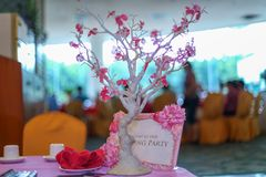 The decoration of the wedding Stock Image