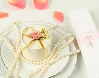 Decoration for a wedding table Royalty Free Stock Image
