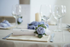 Decoration on a wedding table Stock Photo