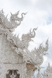 Decoration with white elephant and dragon on roof. Stock Images