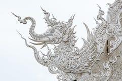 Decoration with white elephant on roof. Stock Image