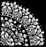 Decoration with white quadrant. Illustration with white decoration on black background Royalty Free Stock Image