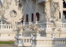 Decoration of White Temple Wat Rong Khun in Chiang Rai, Thailand Stock Photo