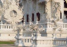 Decoration of White Temple Wat Rong Khun inChiang Rai, Thailand Stock Photo
