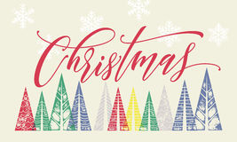 Decoration for winter Christmas holiday greeting card text Royalty Free Stock Image