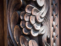 Decoration on a wooden door in Stone Town, Zanzibar Stock Images
