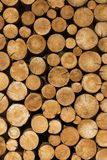 The decoration of wooden logs. Decor royalty free stock photos