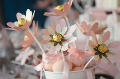 Decorationa de fleurs de papier Image stock