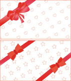 Decorational papers with bow Stock Photo