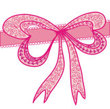 Decorational pink bow Royalty Free Stock Photography