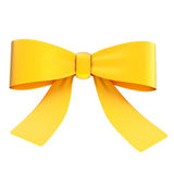 Decorational ribbon bow isolated Royalty Free Stock Image