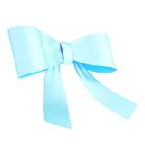 Decorational ribbon bow isolated Royalty Free Stock Images