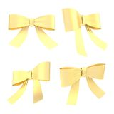 Decorational ribbon bow set isolated Stock Photography