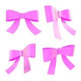Decorational ribbon bow set isolated Stock Photo
