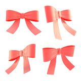 Decorational ribbon bow set isolated Royalty Free Stock Image