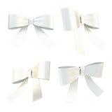 Decorational ribbon bow set isolated Stock Photography