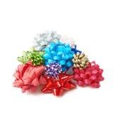 Decorational ribbon gift bow isolated Stock Image