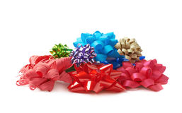 Decorational ribbon gift bow isolated Stock Photo