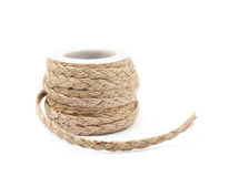 Decorational rope string on a bobbin Royalty Free Stock Image