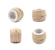 Decorational rope string on a bobbin Royalty Free Stock Images