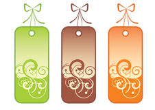 Decorational tags Stock Image