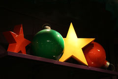 Decorations. Stars and balls Royalty Free Stock Photo