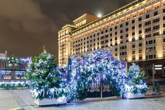 Decorations and architecture of Moscow Royalty Free Stock Image