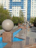 Decorations in Astana. Astana, some decorations in the city in the form of figures Stock Photo