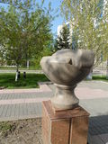 Decorations in Astana. Astana, some decorations in the city in the form of round figures Stock Photography