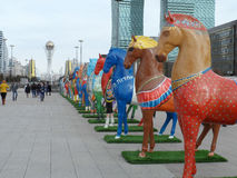 Decorations in Astana Stock Images
