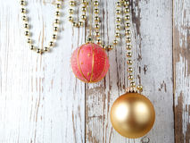 Decorations with baubles Royalty Free Stock Photos
