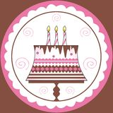 Decorations on birthday cake Royalty Free Stock Image