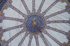 Decorations of the Blue Mosque dome, Istanbul Royalty Free Stock Image