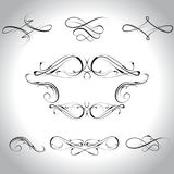 Decorations. Calligraphic design elements and page decorations for design,vector illustration Stock Photo