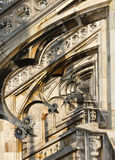 Decorations of cathedral Milan, Italy Stock Photo