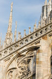 Decorations of cathedral Milan, Italy Royalty Free Stock Photo