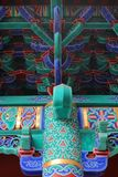 Decorations of a Chinese Buddhist temple Stock Photo