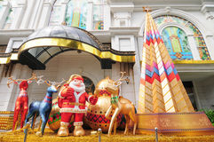 Decorations for Chirstmas. In front of shopping mall in Saigon, Vietnam Stock Images