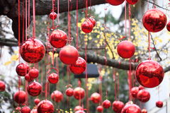 Decorations Christmas balls for tree Royalty Free Stock Photos