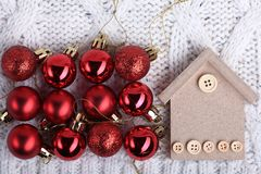 Decorations for Christmas and New Year Royalty Free Stock Images