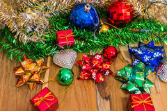 Decorations for Christmas and New Year on Royalty Free Stock Photo