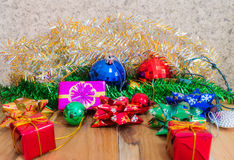 Decorations for Christmas and New Year on Royalty Free Stock Photos