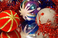Decorations for a christmas tree. Happy winter holiday Stock Images