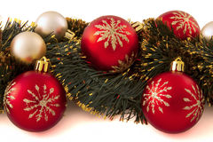 Decorations on the Christmas tree Stock Images