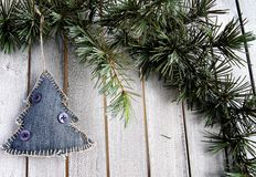 Decorations on the Christmas tree Royalty Free Stock Photography