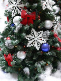 Decorations on Christmas tree Stock Image