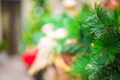 Decorations on the Christmas tree Royalty Free Stock Image